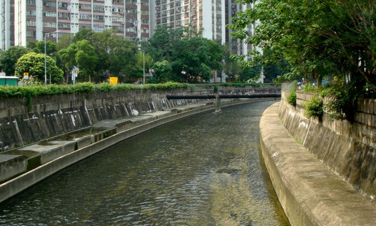 Kai Tak Nullah in Choi Hung Road in San Po Kong Photo: Wikimedia Commons
