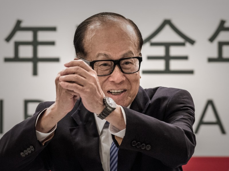 Hong Kong tycoon Li Ka-shing. Photo: AFP/ Philippe Lopez