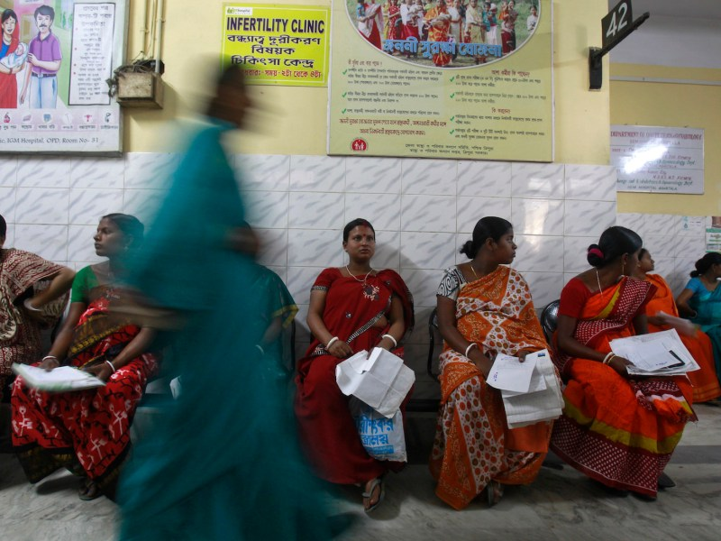 Pregnant women wait to be examined at a government hospital in the northeastern Indian city of Agartala. Photo: Jayanta Dey, Reuters