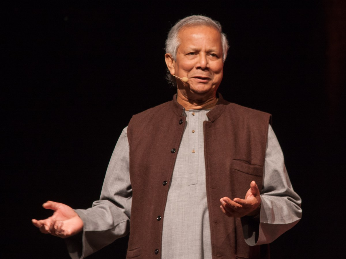 Mohammad Yunus created microfinance by experimenting with lending to poor women in Bangladesh. Photo: Wikimedia Commons
