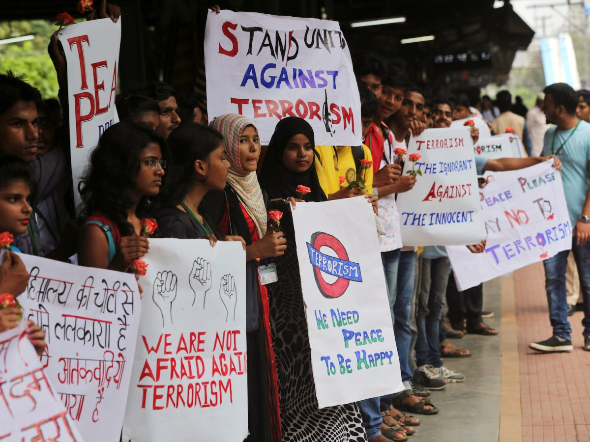 College students in Mumbai rally against terrorism in September 2016. Photo: Reuters/Shailesh Andrade