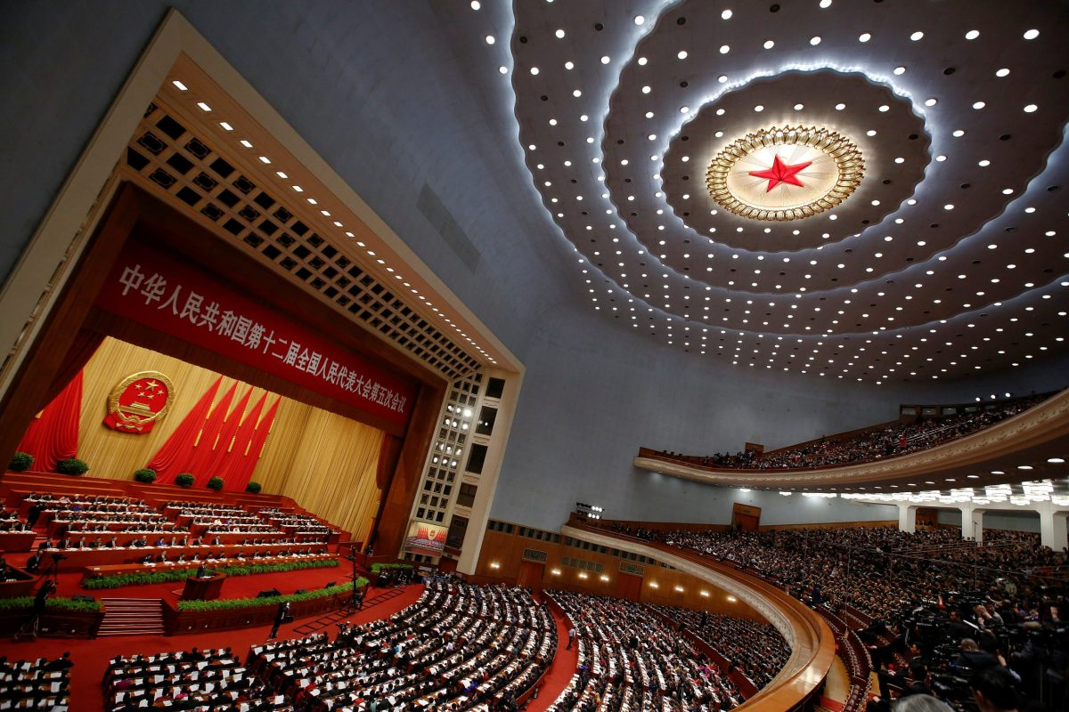 Opening session of the National People's Congress (NPC) at the Great Hall of the People in Beijing, China. Photo: Reuters, Thomas Peter
