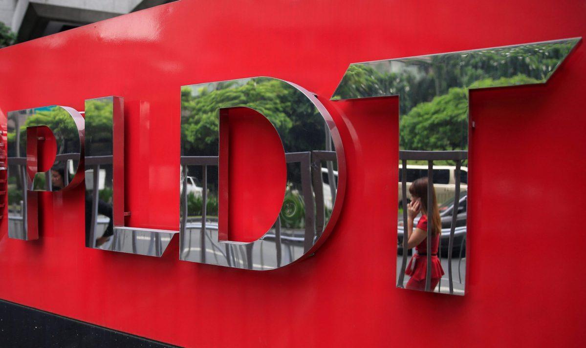 Philippine Long Distance Telephone Company (PLDT) logo. Photo: Reuters, Romeo Ranoco