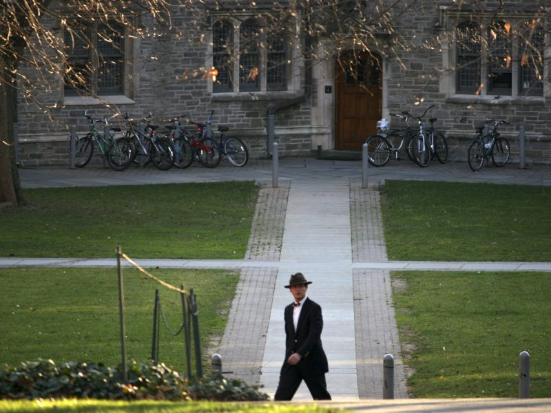 A man walks on the campus of Princeton University in Princeton, New Jersey. Photo: Reuters, Steve James