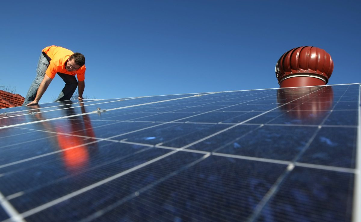 Solar panels on the roof of a house in Sydney, Australia. Photo: Reuters/Tim Wimborne