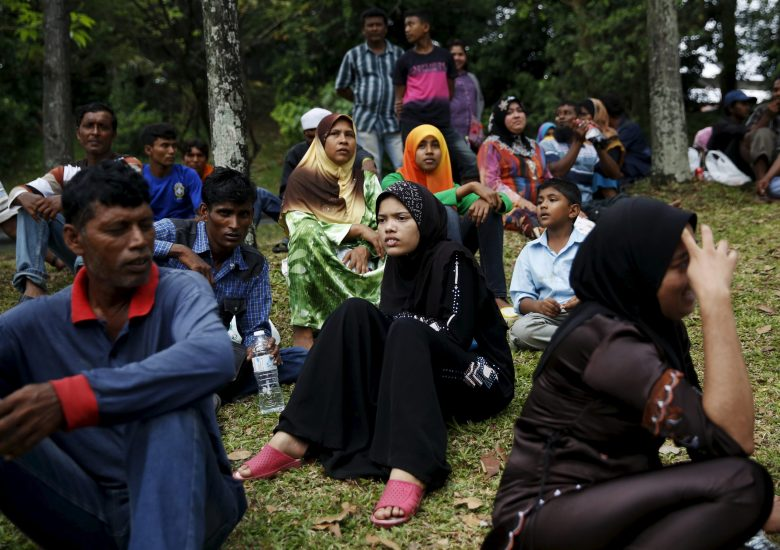 Rohingya refugees wait for access to the United Nations High Commission for Refugees (UNHCR) building in Kuala Lumpur, Malaysia, on August 11, 2015. Photo: Reuters/Olivia Harris