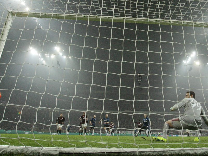 AC Milan v Inter Milan at Milan's San Siro Stadium. Photo: Reuters/Alessandro Garofalo