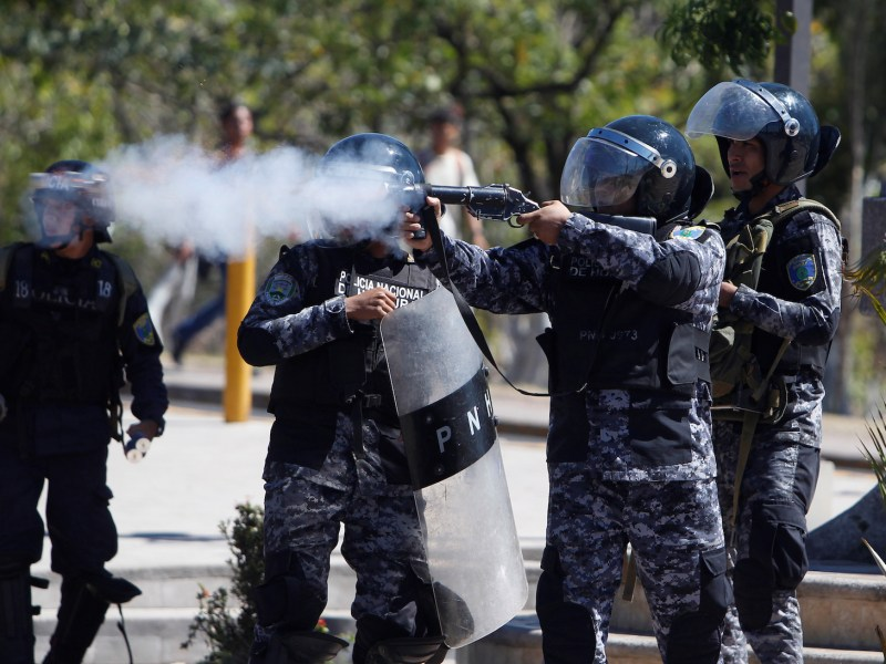 Police fire tear gas at university students during a protest in Tegucigalpa, Honduras. Protests by students are common worldwide, but some argue   such people are pampered and out of touch with real-world problems. Photo: Jorge Cabrera