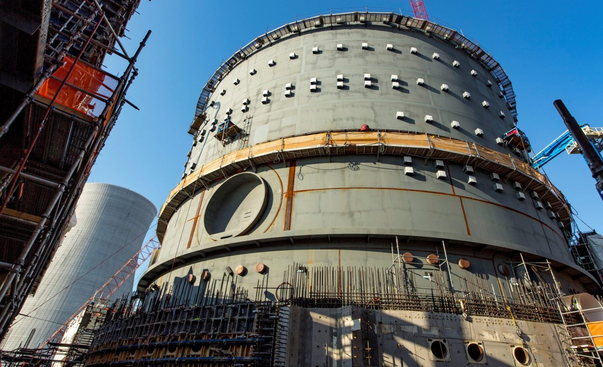 The Vogtle Unit 3, being constructed by primary contactor Westinghouse, a business unit of Toshiba, near Waynesboro, Georgia, US. Photo: Reuters