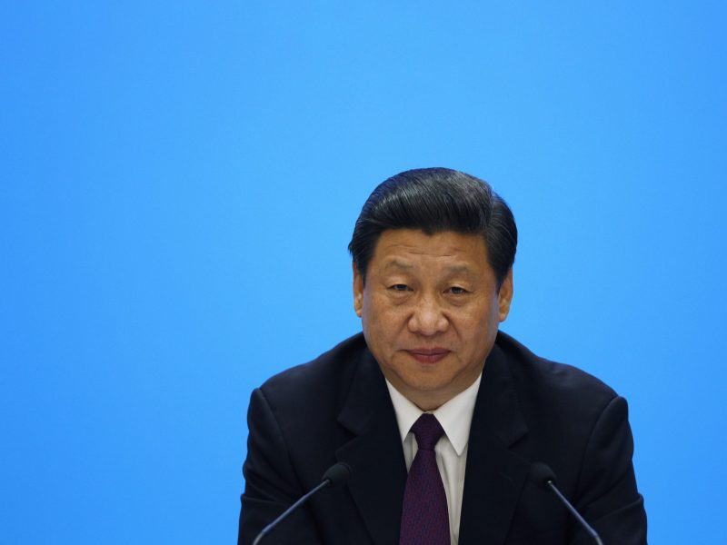 China's President Xi Jinping attends a meeting with representatives of entrepreneurs at the Boao Forum for Asia. Photo: Reuters, Tyrone Siu