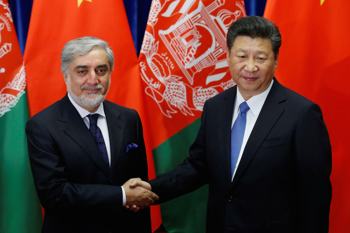 China's president Xi Jinping and Afghan chief executive officer Abdullah Abdullah met in Beijing last year. China is involved in joint counter-terrorism efforts in Afghanistan to prevent the spread of extremist ideas into western China. Photo: Reuters/Kim Kyung-Hoon