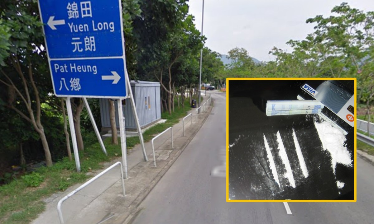 An Indonesian woman was arrested in Yuen Long for picking up a drug parcel. Photo: Google Map, Wikimedia Commons