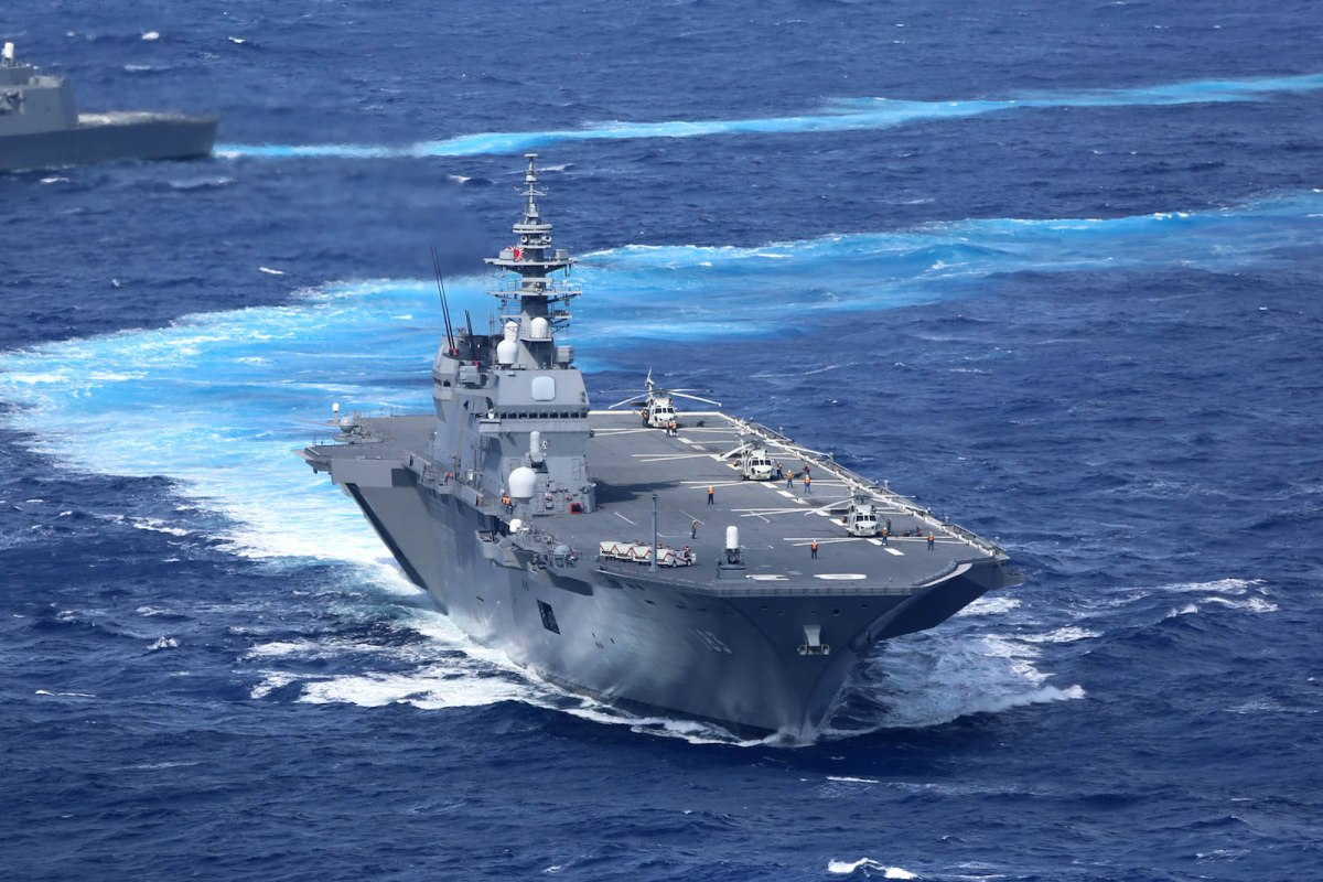 Japan's destroyer and helicopter carrier Izumo. Photo: Wikipedia.