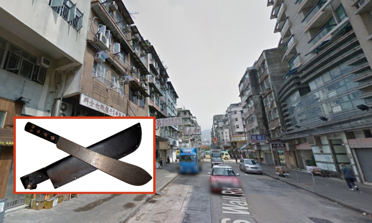 A Thai man was arrested with weapons including a machete in an apartment in Kowloon City. Photo: Wikimedia Commons, Google Map