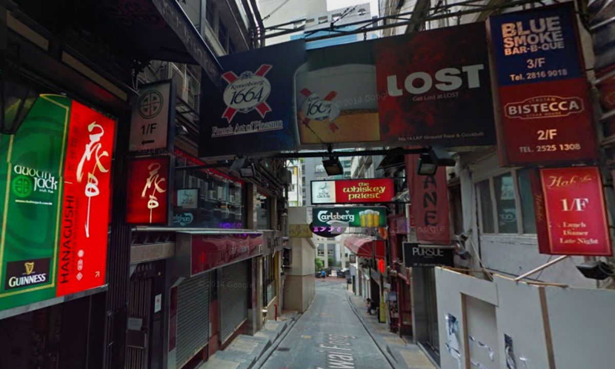 Lan Kwai Fong in Central Photo: Google Map
