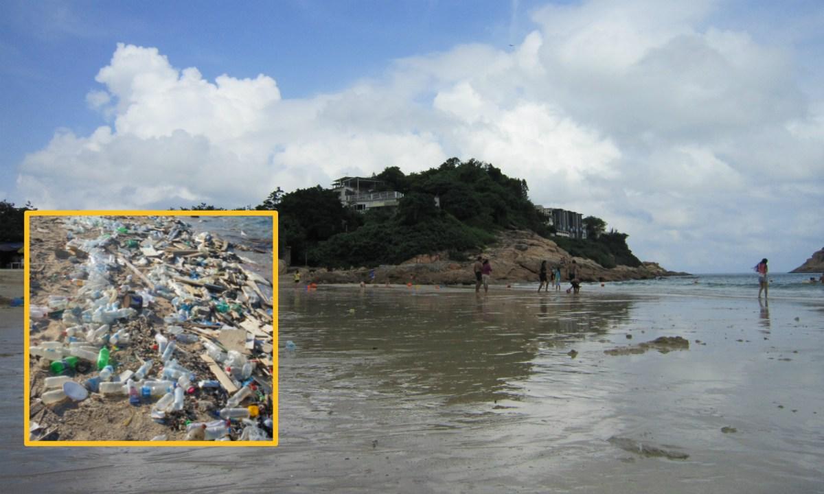 Marine debris was found at Hong Kong beaches. Photo: Asia Times