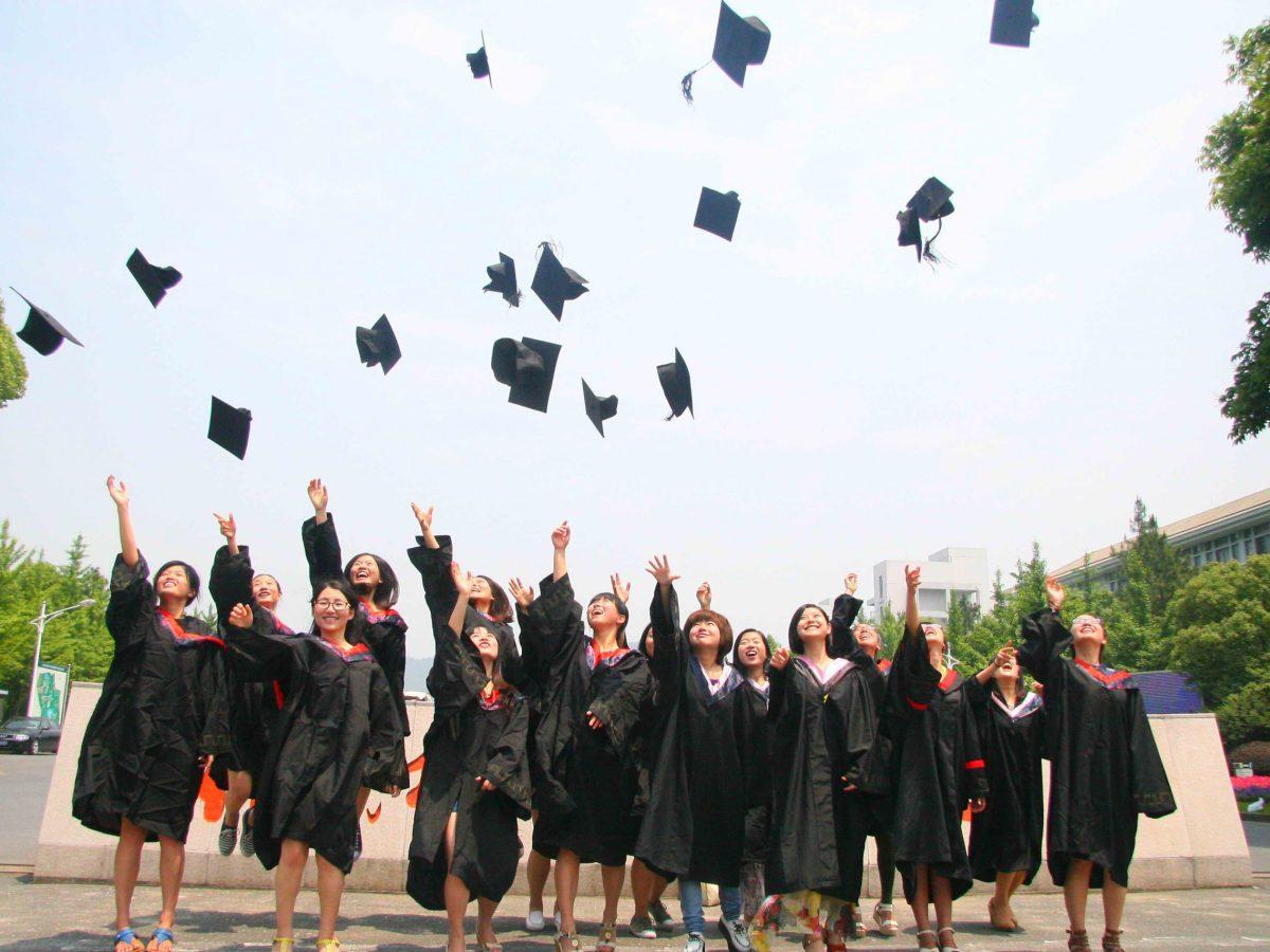 Chinese graduates from Zhejiang A & F University. Photo: Zhejiang A&F University