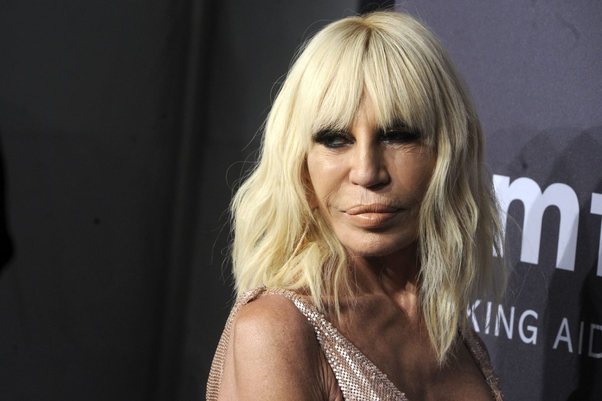 Donatella Versace. Photo: AFP
