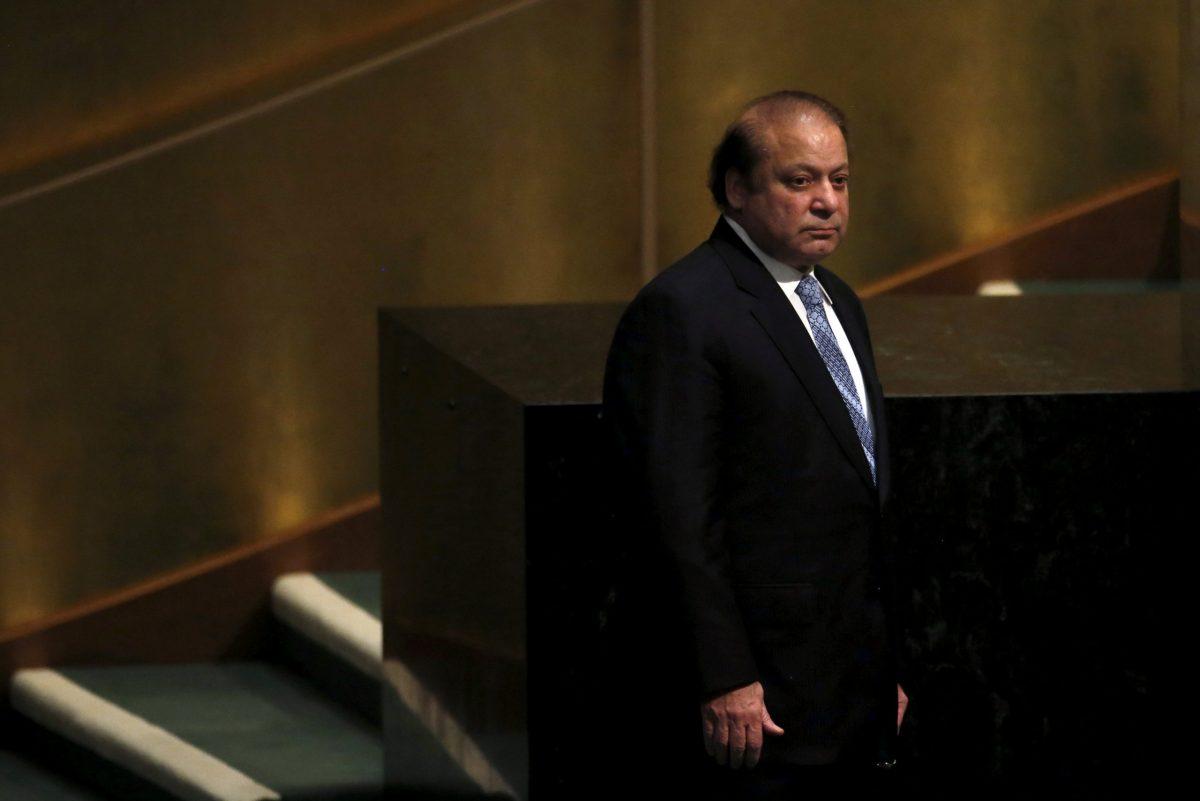 Nawaz Sharif. Photo: Reuters / Mike Segar