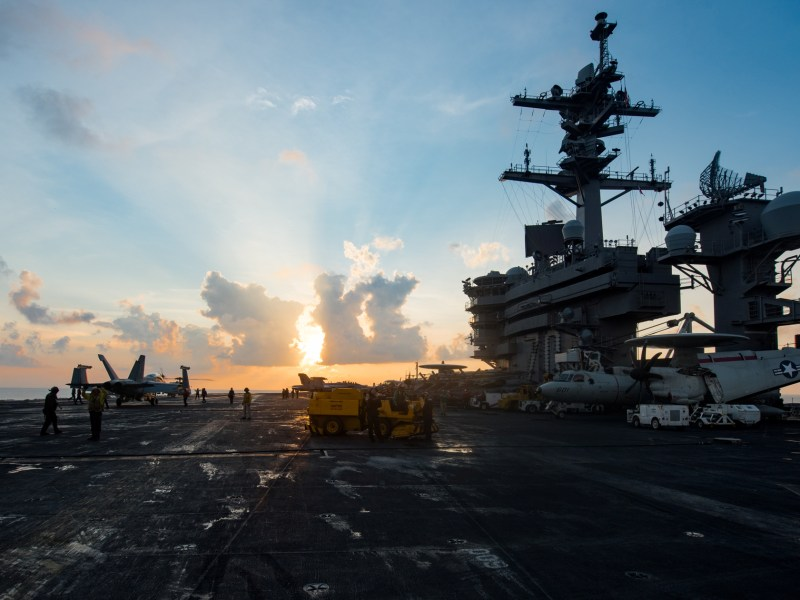 Calm before the storm? The USS Carl Vinson transits the South China Sea. Photo: US Navy via Reuters