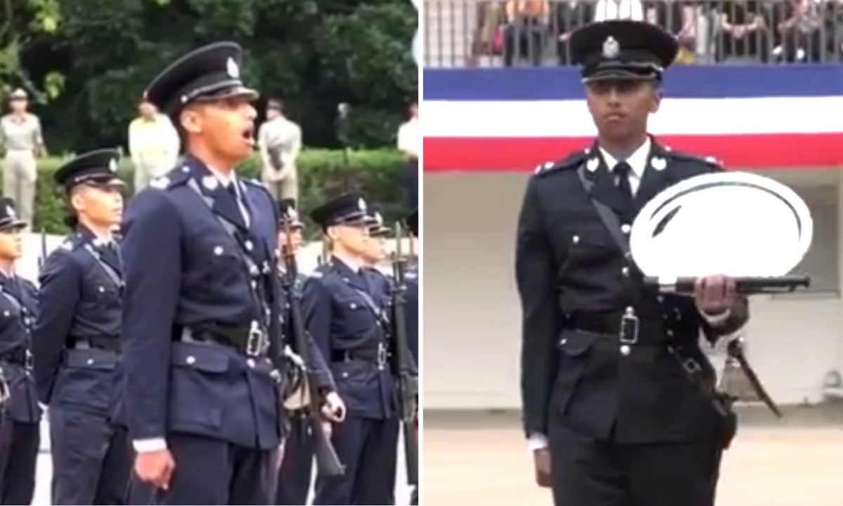 Abdul Faisal is the first non-Chinese probationary inspector of police promoted from police constable after the 1997 handover. Photo: Facebook/Hong Kong Police