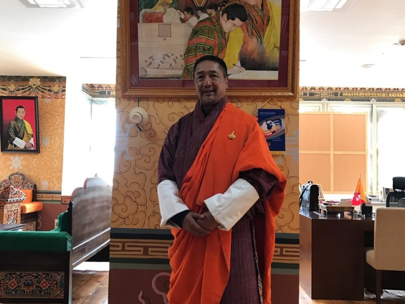 Chief Justice Lyonpo Tshering Wangchuk in his chambers. Photo: Julie L. Kessler