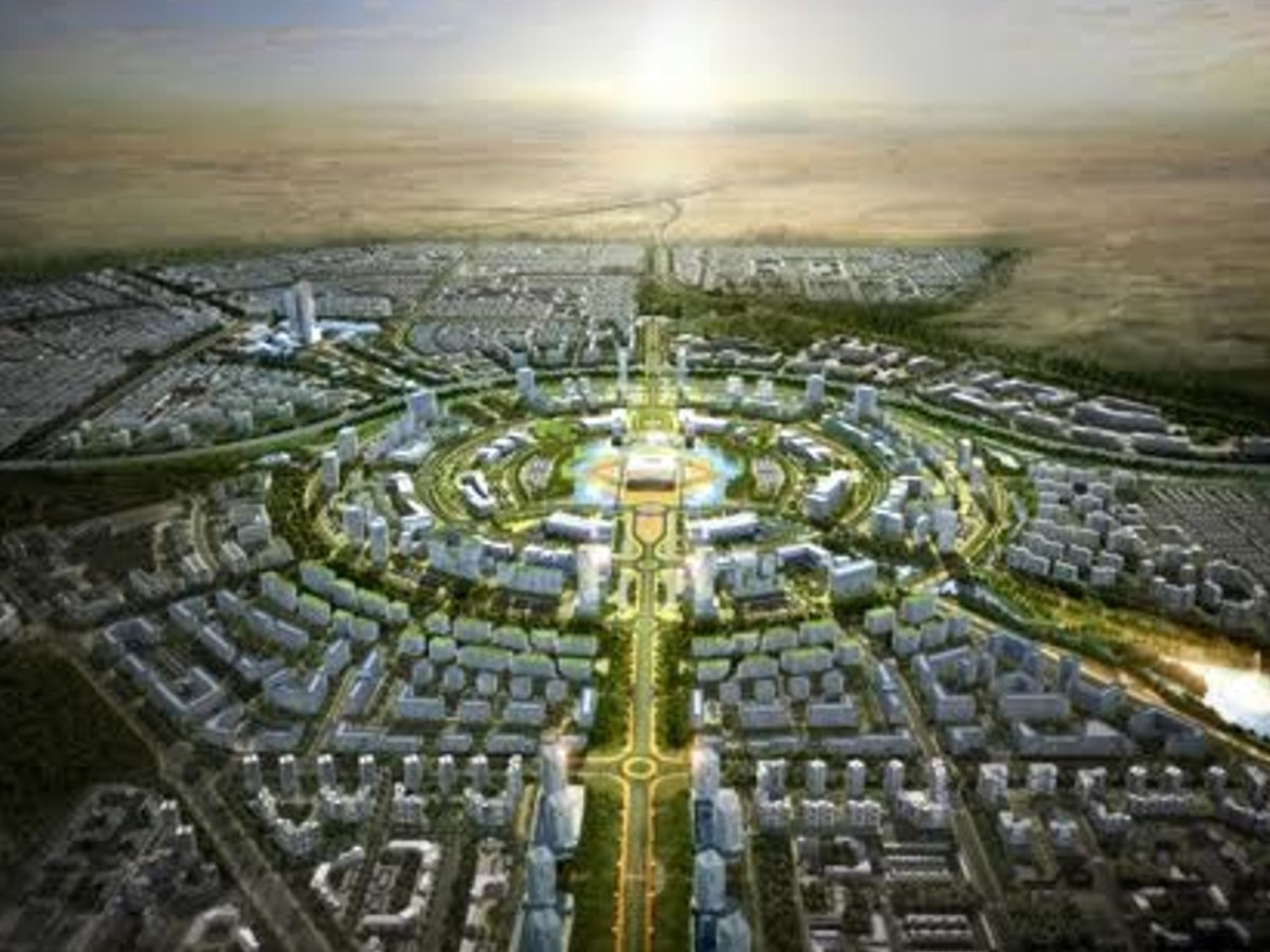 Design illustration of a smart city to be built in Kuwait by a consortium of South Korean firms. Source: Yonhap