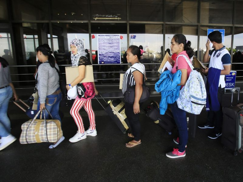 Filipinos leave Manila to work overseas. Existing international remittance fees are considerable and the use of crypto exchanges could result in in huge savings. Photo: Reuters/Romeo Ranoco