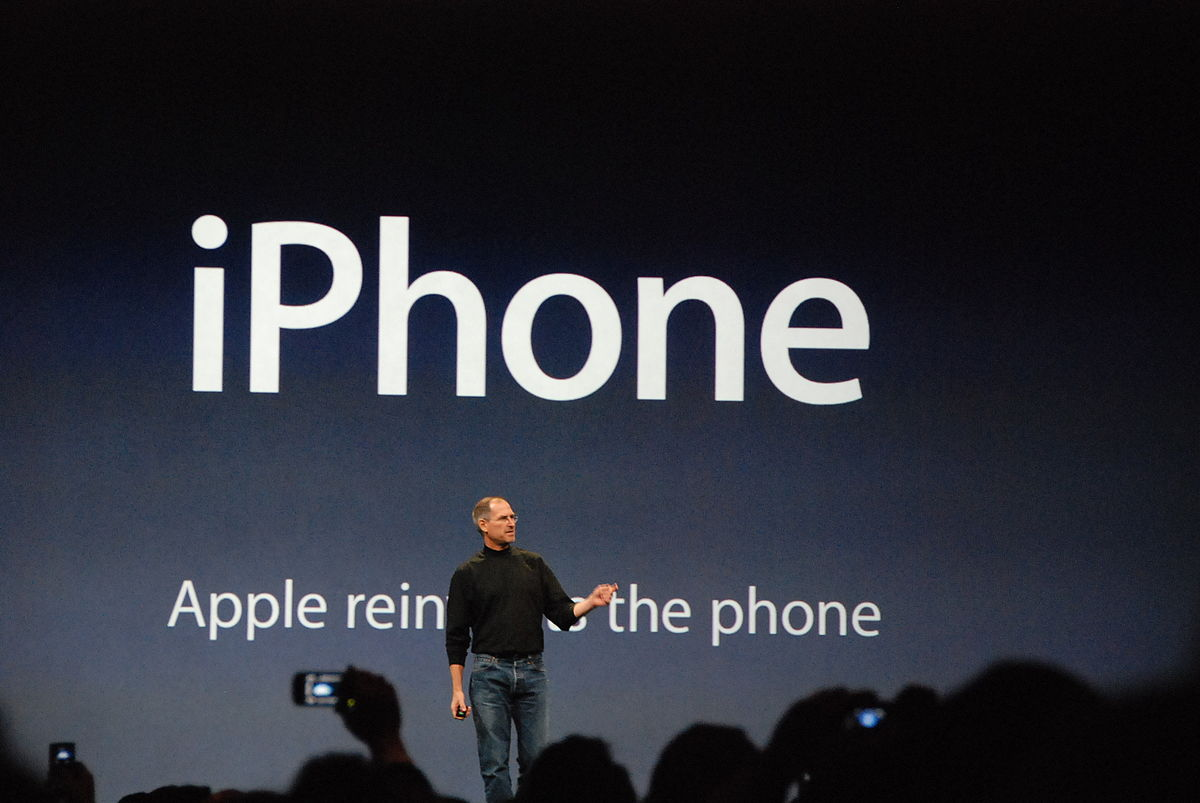 10 yeas ago, Steve Jobs introduced the iPhone. The rest is history. Photo: Wikipedia Commons