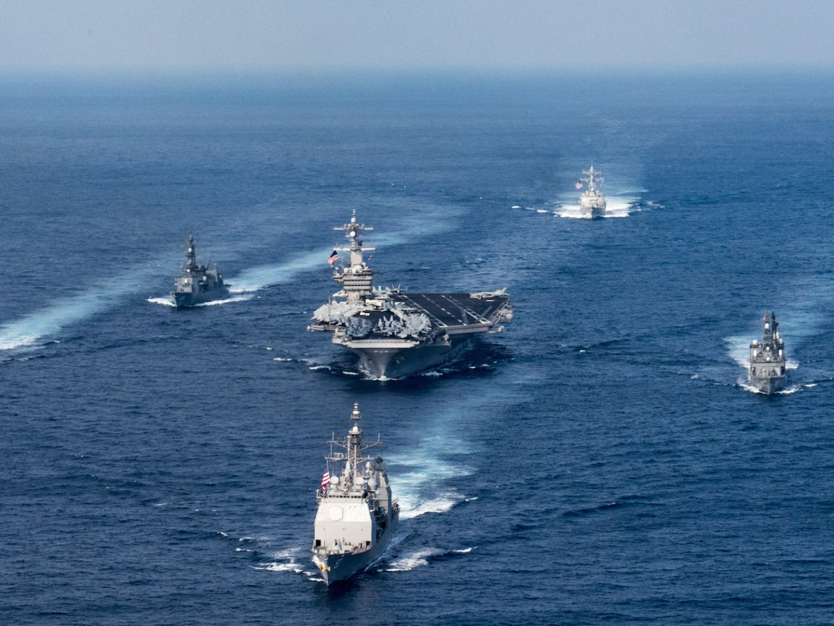 USS Carl Vinson carrier strike group. Photo: US Navy