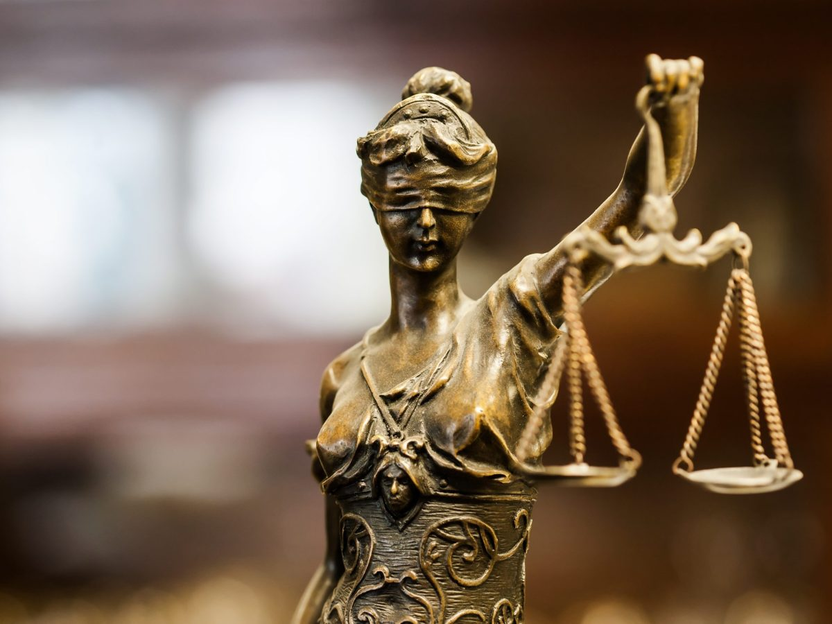 Statue of justice. ThinkstockPhotos