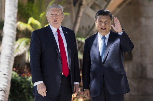 United States President and Chinese President Xi Jinping  Photo: AFP