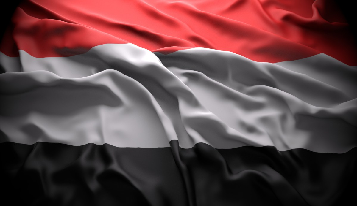 Yemen official national state flag. Photo: iStock