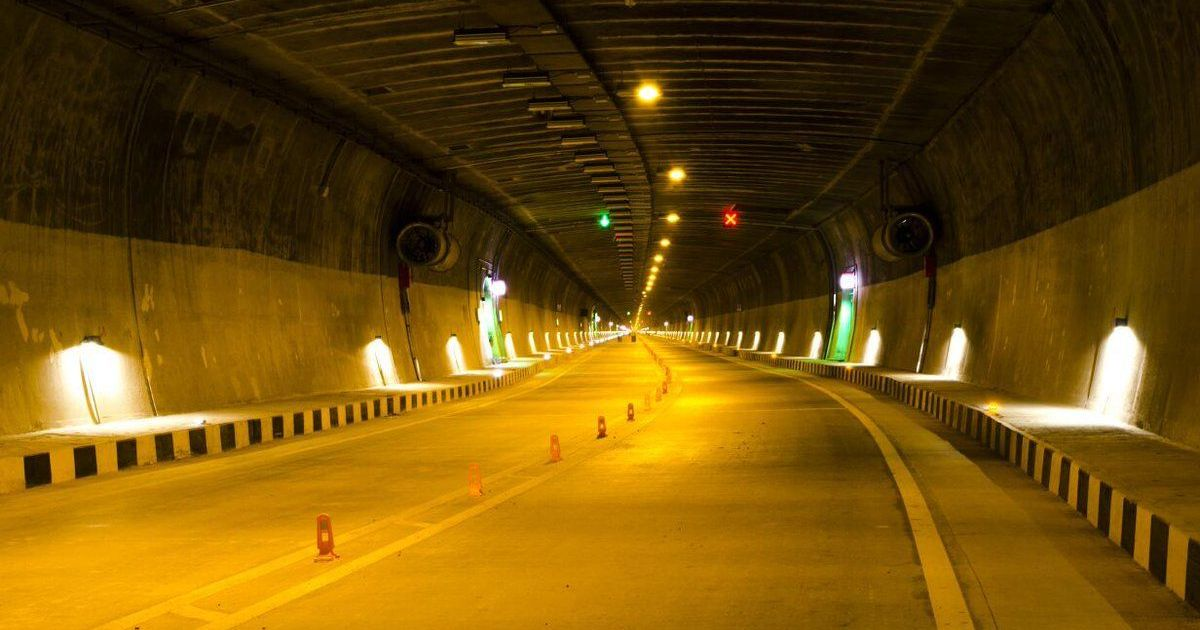 The Chenani-Nashri Highway Tunnel, opened on Sunday, April 2, is India's longest road tunnel. Photo: Nitin Gadkari / Twitter