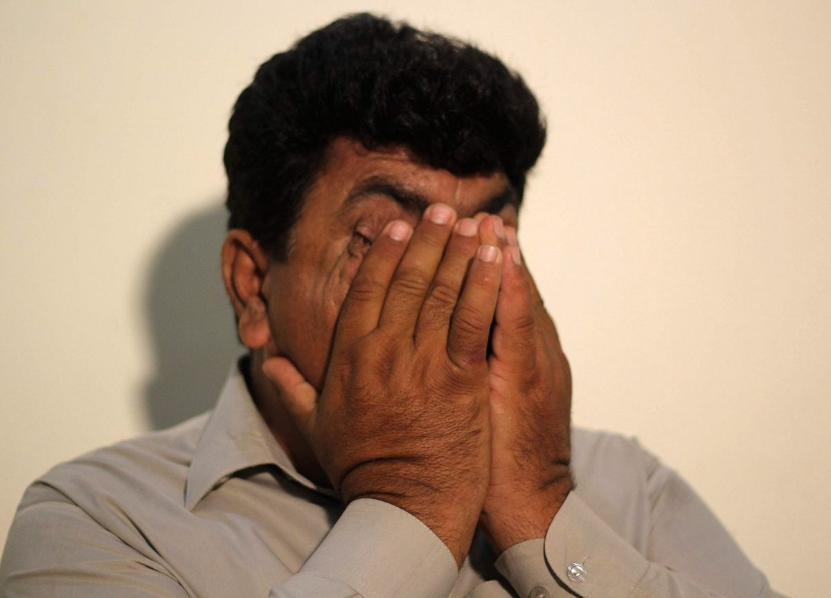 Jamil Afridi, the elder brother of jailed Pakistani doctor Shakil Afridi speaks during an interview with AFP at an undisclosed location in Pakistan in April 2016. Photo: AFP / SS Mirza