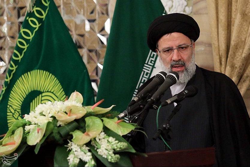 Ebrahim Raisi speaks in Mashhad, Iran. Photo: handout via Reuters