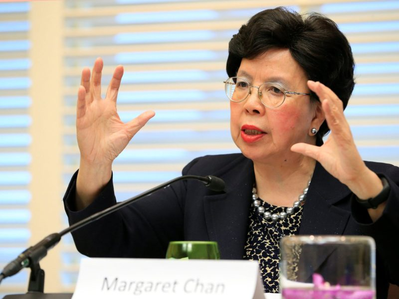 WHO Director-General Margaret Chan Fung Fu-chun's term in office is coming to an end. Photo: Reuters/Pierre Albouy