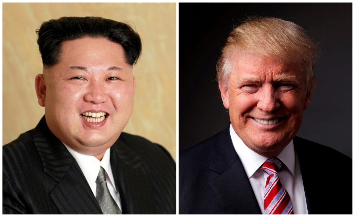 North Korean leader Kim Jong-un in a combination photo with US President Donald Trump. Photos: KCNA via Reuters