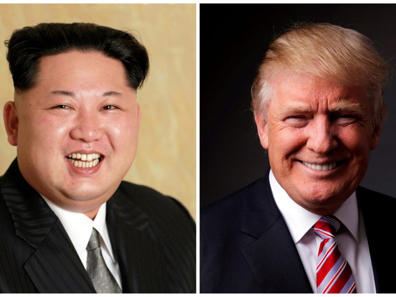 North Korean leader Kim Jong-un in a combination photo with US President Donald Trump. Photos: KCNA via Reuters