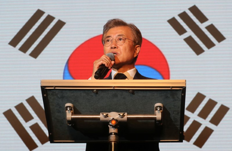 South Korea's president Moon Jae-in. Photo: Yonhap via Reuters