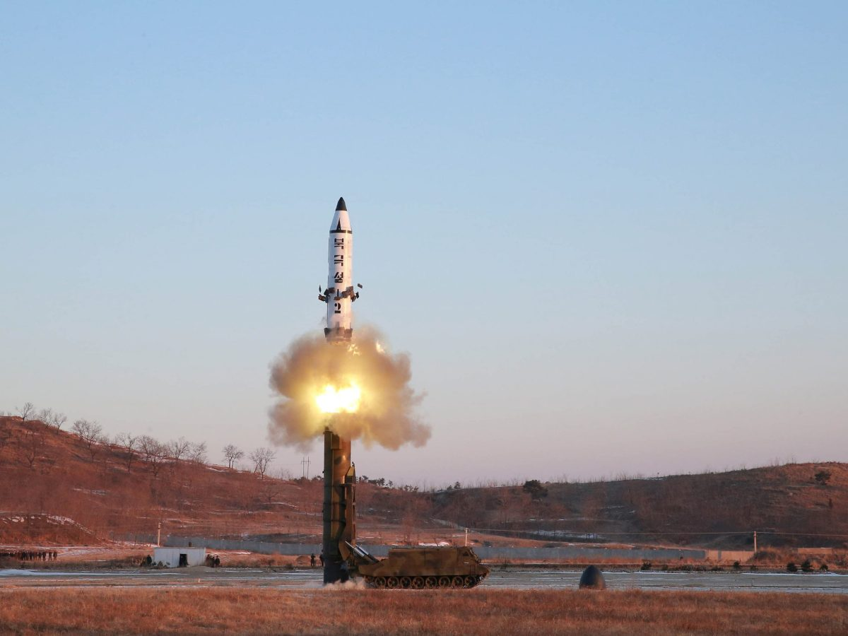War of words is pushing up the cost of insuring South Korean debt. North Korea's test of the Pukguksong-2 missile in the undated photo released by the Korean Central News Agency (KCNA) in Pyongyang February 13, 2017. Photo: Reuters/KCNA
