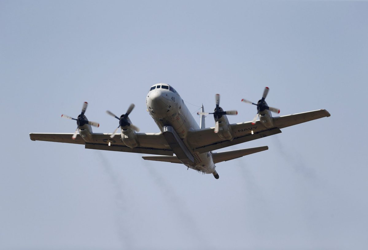 FILE PHOTO --  A U.S. Navy P-3 Orion maritime patrol aircraft takes off from Incirlik airbase in the southern city of Adana, Turkey, August 3, 2015. Reuters/Umit Bektas