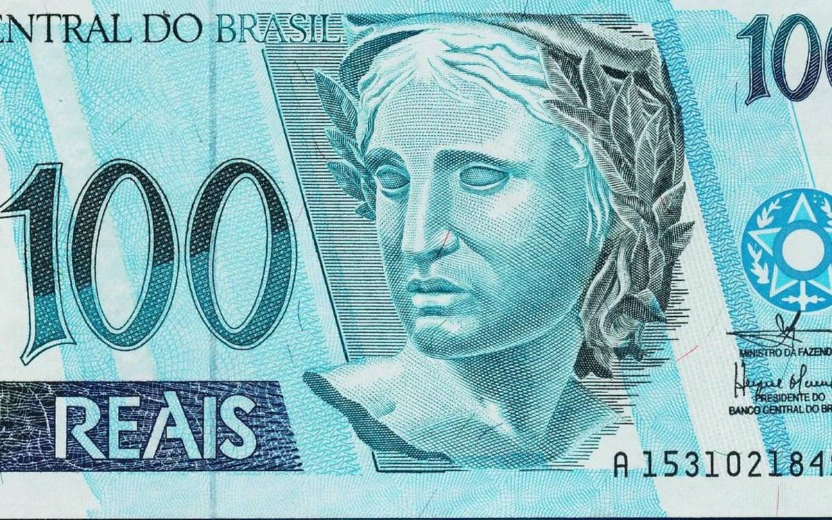 Brazil 100 Reais banknote 2005