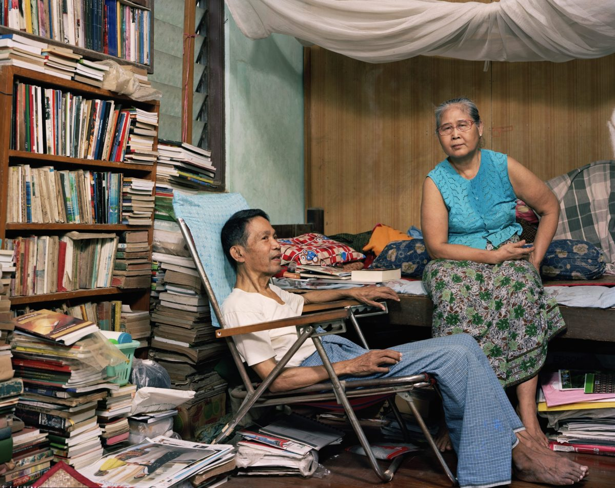 A still from Burma Storybook, a documentary on Burmese poet Maung Aung Pwint (pictured with his wife in their Yangon flat). Photo: Petr Lom