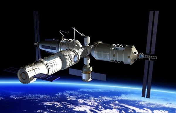 Illustration of planned Chinese space station. Source: China National Space Administration, the Space Review