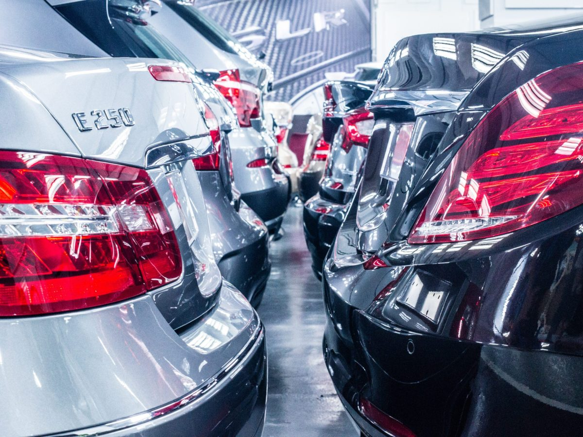 Cars exhibited at the Kowloon Bay integrated Auto Mall. Photo: Asia Times
