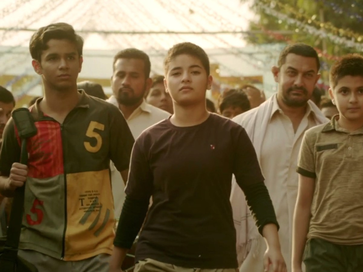 A still from Indian wrestling hit Dangal.