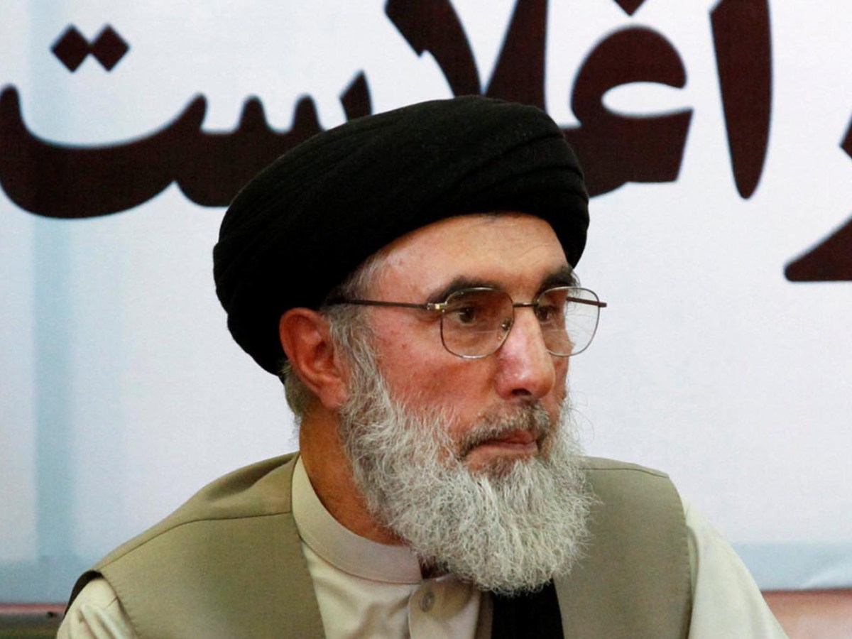 Afghan warlord Gulbuddin Hekmatyar speaks to supporters in Laghman province, Afghanistan April 29, 2017. Photo: Reuters