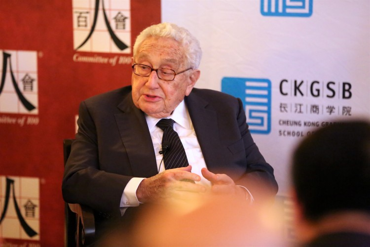 Henry Kissinger at C100 event in New York City.