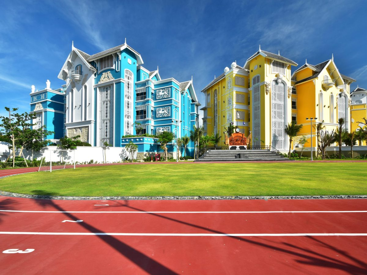 The running track at the colorful JW Marriott Phu Quoc, on a Vietnamese island off the coast of Cambodia. Photo: JW Marriott